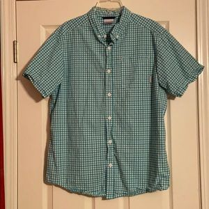 Men's Columbia Blue:Green Plaid Short Sleeve Shirt